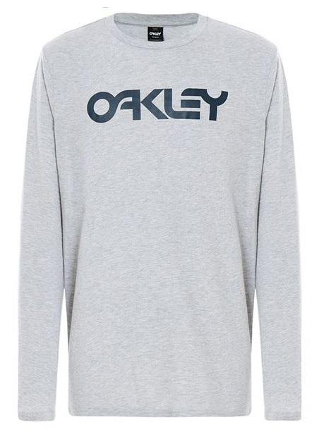 Oakley Mark II Long Sleeve T-Shirt, M Granite Heather