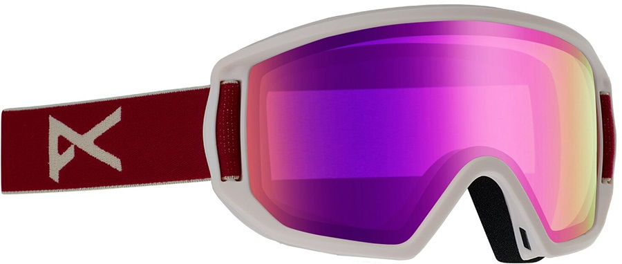Anon Relapse Jr MFI Pink Amber Ski/Snowboard Goggles, S/M Berry