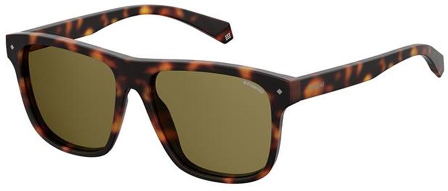 Polaroid Buzzard Bronze Polarized Sunglasses, Dark Havana