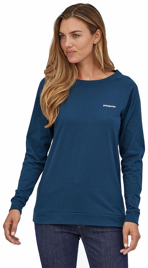 Patagonia Women's P-6 Logo Responsibili-tee, UK 14 Crater Blue