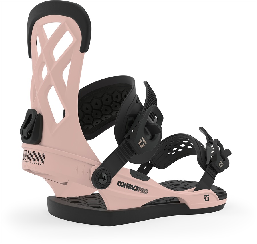 Union Contact Pro Snowboard Bindings, L Pink 2020