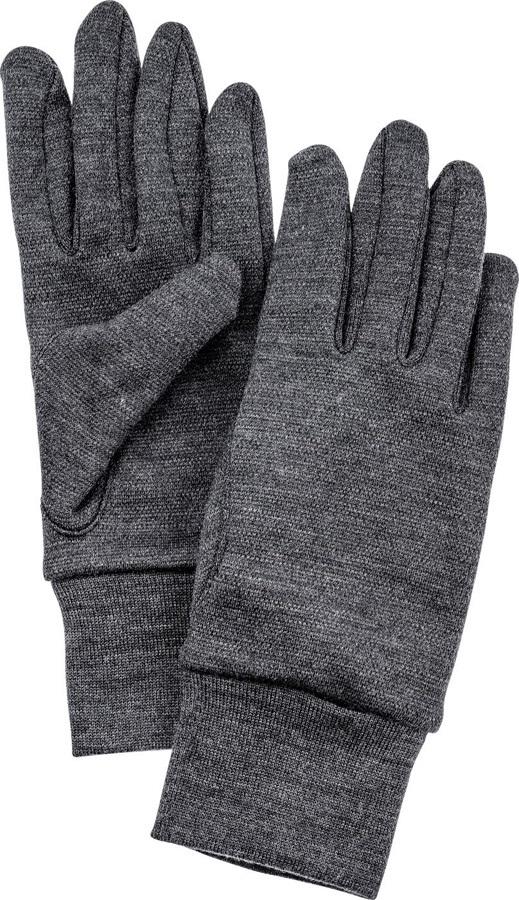 Hestra Heavy Merino Wool Ski/Snowboard Liner Gloves, XXL Grey