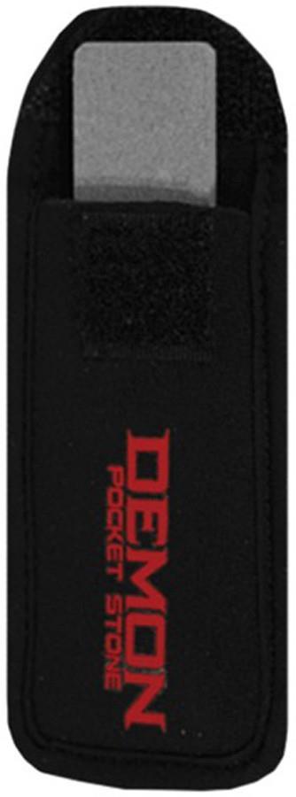 Demon Pocket Stone Ski/Snowboard Edge Tool, 6.5 x 2 x 1cm Black