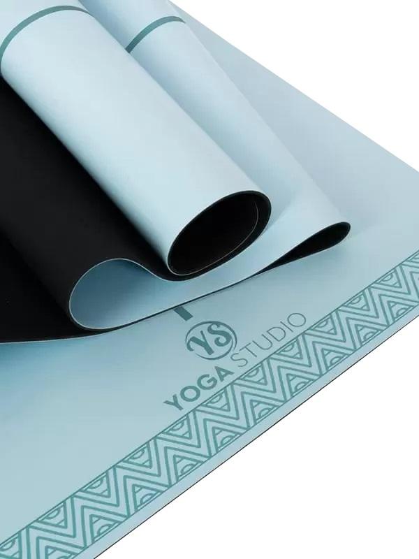 Yoga Studio The Grip Alignment Yoga/Pilates Mat, 4mm Blue