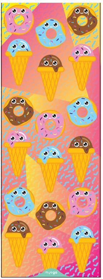 Myga Children's Printed Yoga Mat, 6mm Sweet Tooth