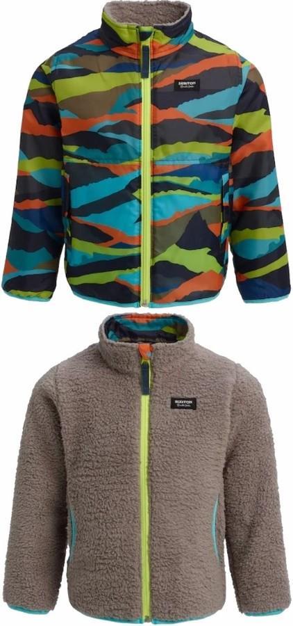 Burton Boys Snooktwo Reversible Fleece Jacket, 4t Summit Stripe
