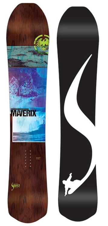 Never Summer Maverix Rocker Camber Snowboard, LT 145cm Narrow 2019