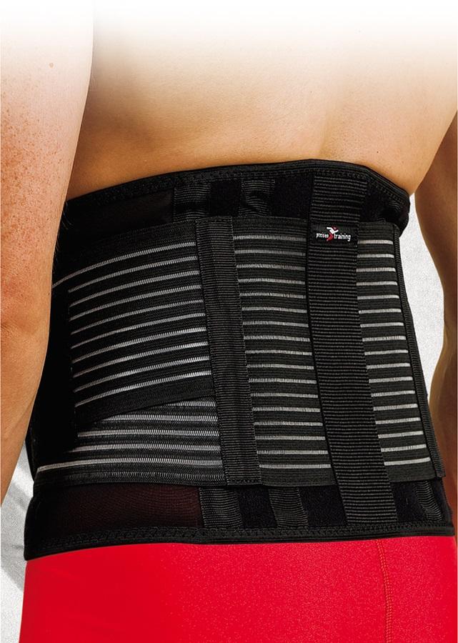 Precision Neoprene Back Brace With Stays L/XL Black