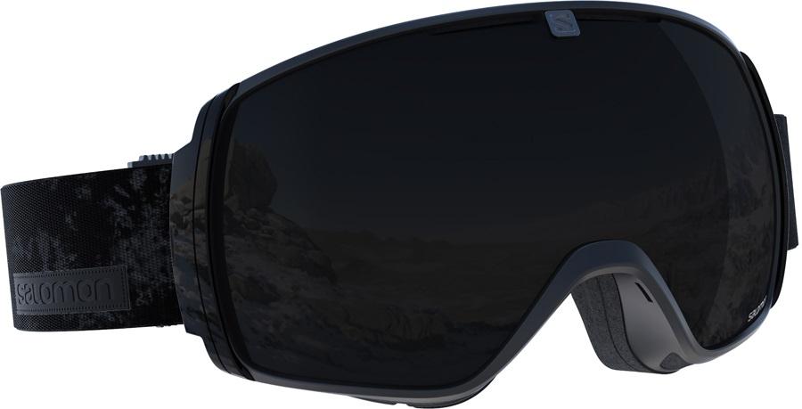 Salomon XT One Snowboard/Ski Goggles, M/L, Black Tie&Dye, Solar Black