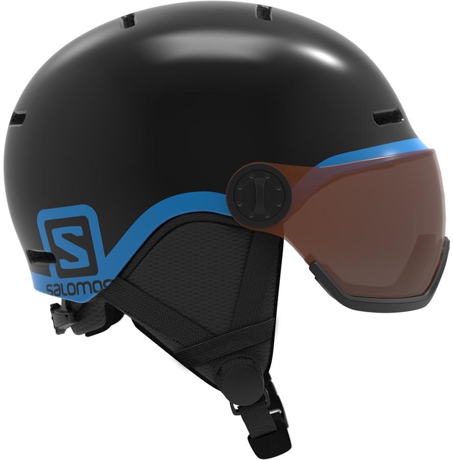 Salomon Grom Visor Tonic Orange Kids Ski/Snowboard Helmet, S Black