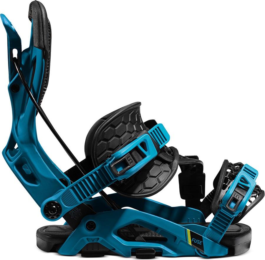 Flow Fuse Hybrid Step In Snowboard Bindings, Xl Blue/Black 2021