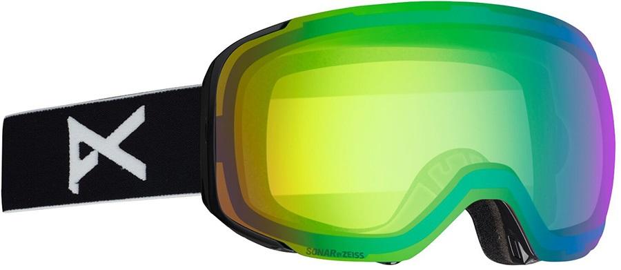 Anon M2 Sonar Green Ski/Snowboard Goggles, M/L Black