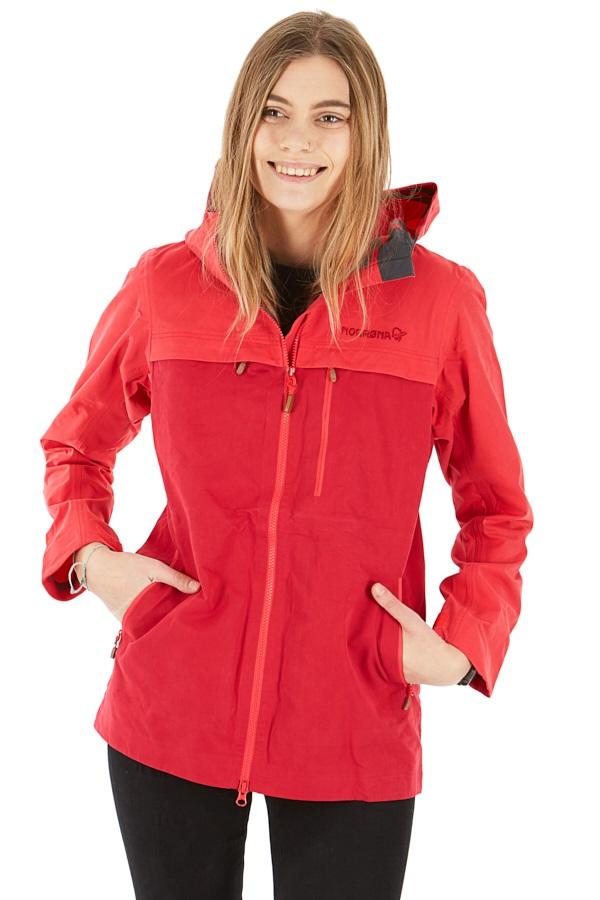 Norrona Svalbard Cotton Women's Windstopper Jacket, S Crisp Ruby