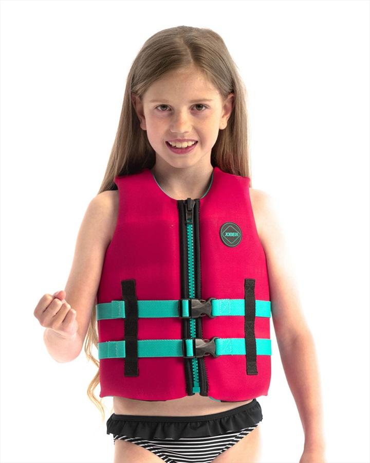 Jobe Neoprene Life Vest Kids Buoyancy Aid, 6 / 116 Hot Pink 2021