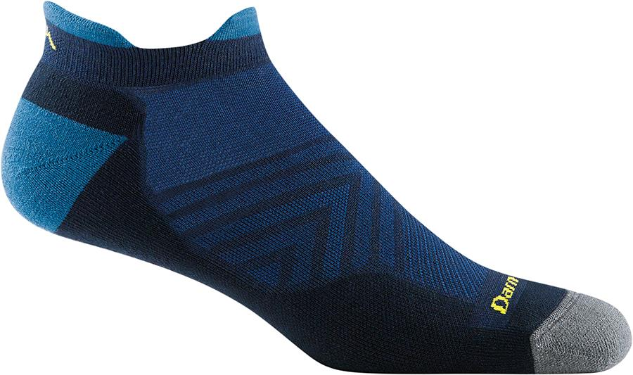 Darn Tough Run No-Show Tab Cushion Ultralight Running Socks M Eclipse