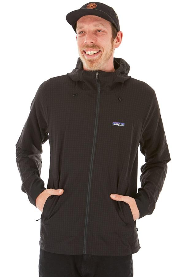 Patagonia R1 TechFace Hoody Softshell Jacket, M All Black