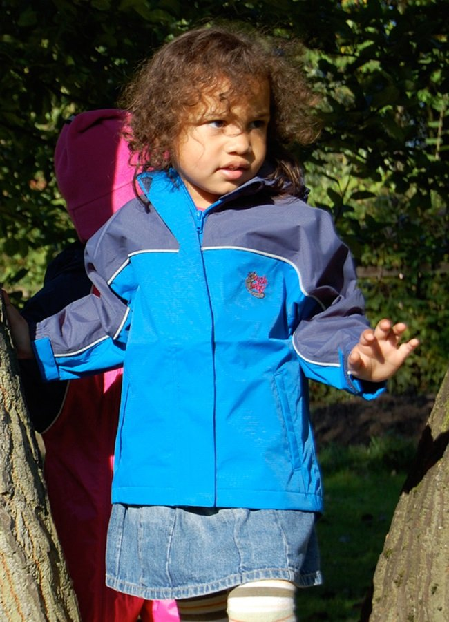 Bushbaby Rip-Stop Jacket Kid's Waterproof Hooded Coat 2 Years Old Blue