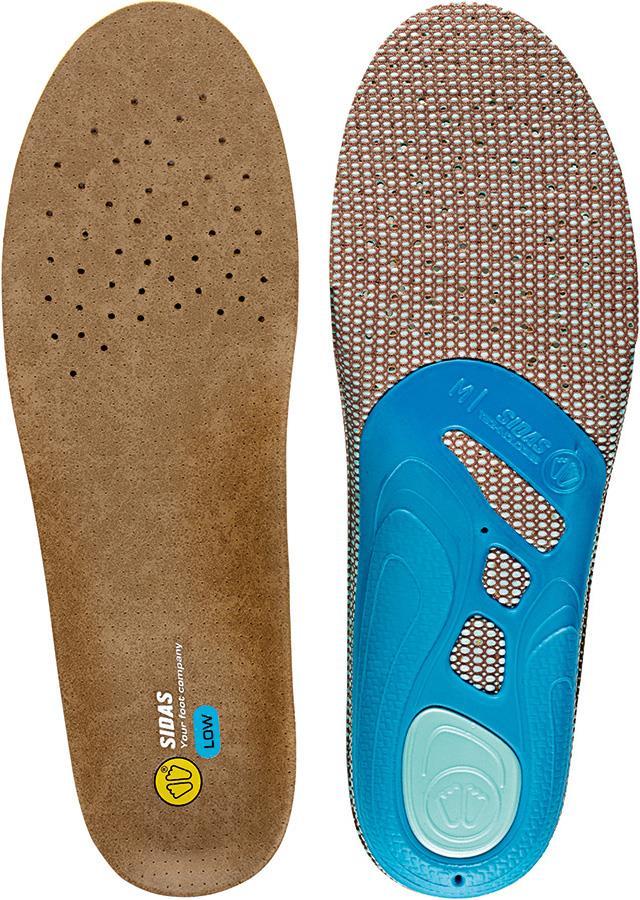 Sidas 3Feet Outdoor Low Hiking/Walking Insoles, XS Brown/Blue