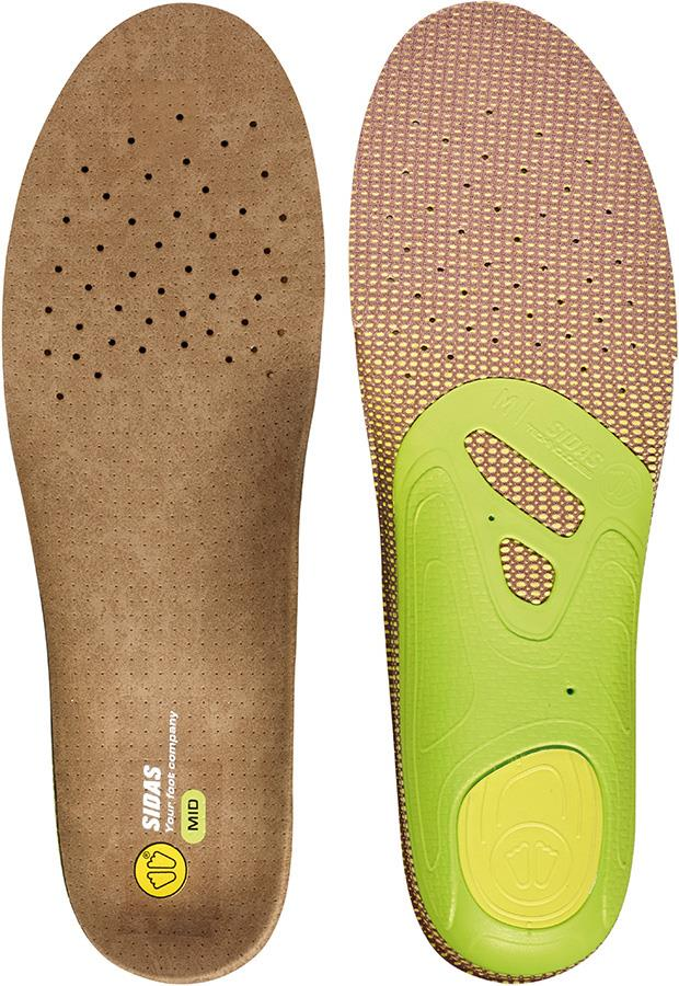 Sidas 3Feet Outdoor Mid Hiking/Walking Insoles, XS Brown/Green