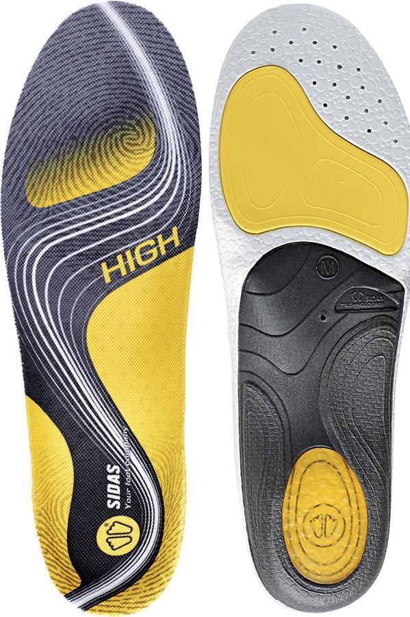 Sidas 3Feet Activ' High Running Insoles, S Yellow
