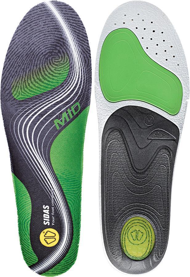 Sidas 3Feet Activ' Mid Running Insoles, L Green