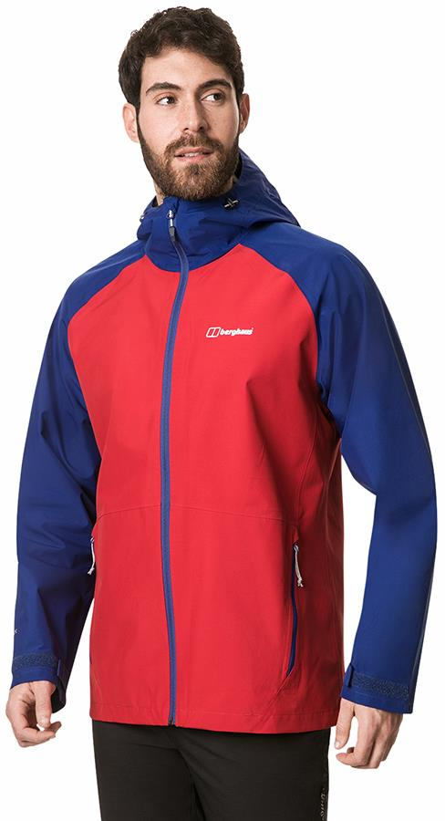 Berghaus Paclite 2.0 GORE-TEX Shell Waterproof Jacket, L Red/Blue