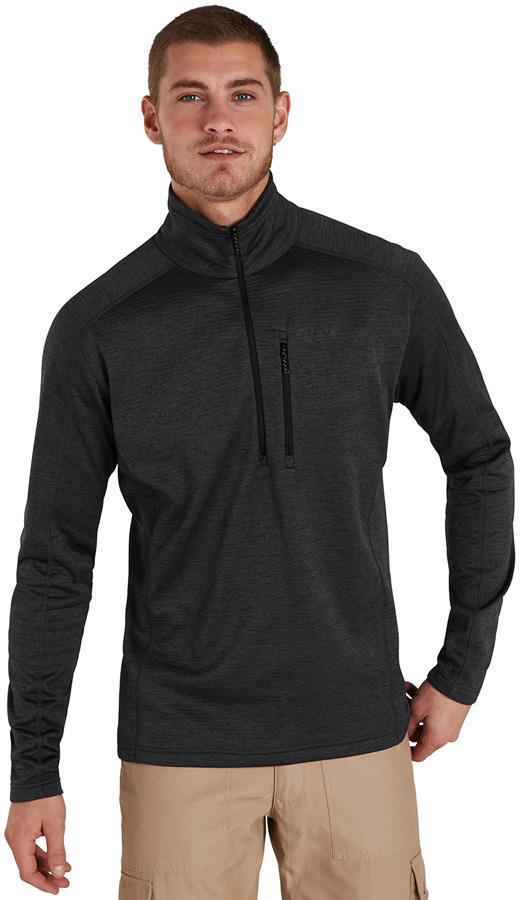 Berghaus Spitzer Half-Zip Interactive Fleece Pullover, L Black/Grey
