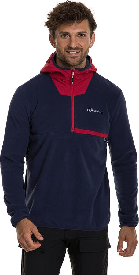 Berghaus Aslam Hooded Half-Zip Fleece, M Dusk/Haute Red