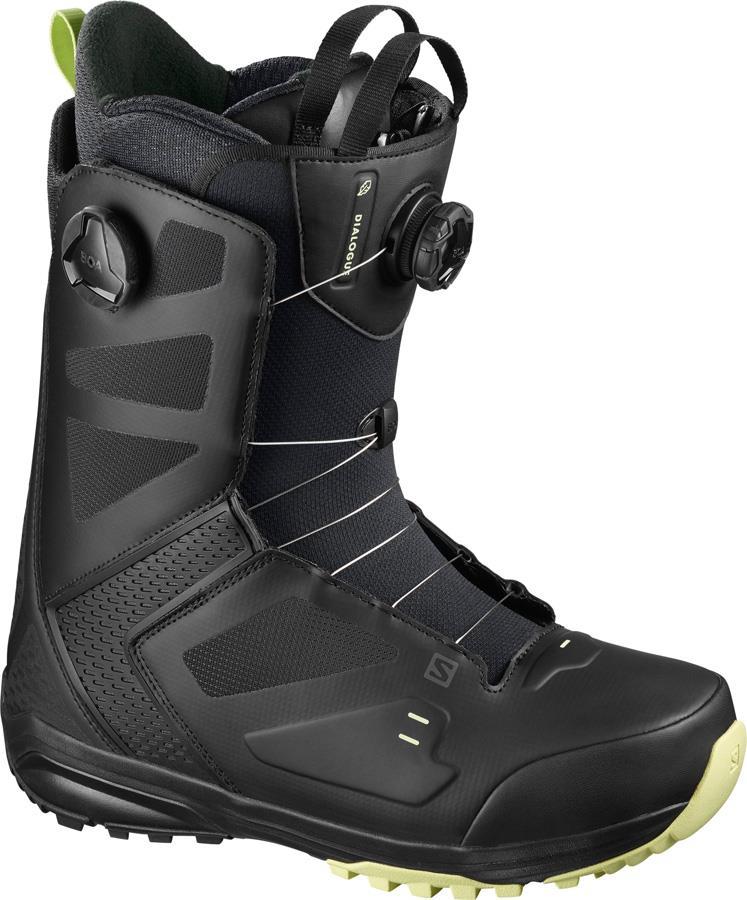 Salomon Dialogue Wide Focus BOA Mens Snowboard Boots, UK 9 Black 2021