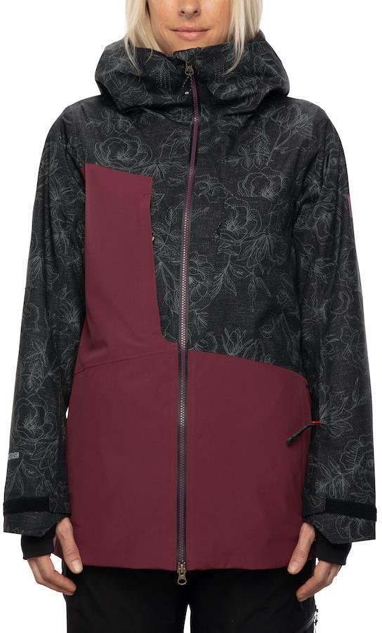686 Hydrastash Oasis Women's Snowboard/Ski Jacket, S Black Flower