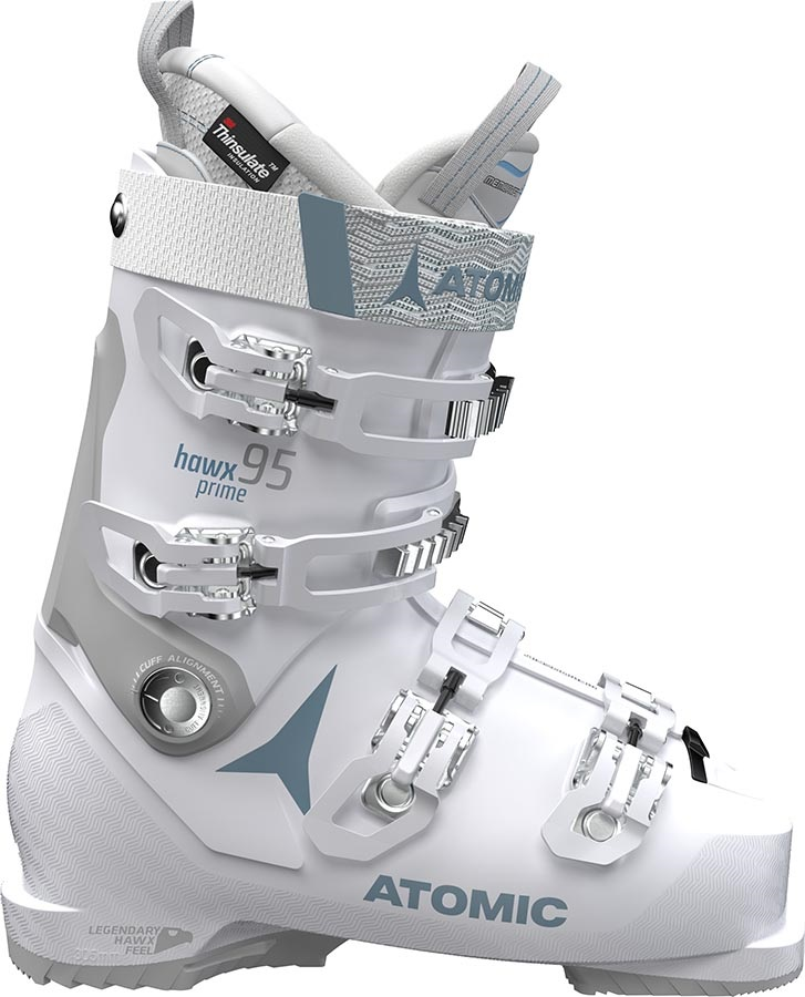 Atomic Hawx Prime 95W Women's Ski Boots, 23/23.5 Vapor/Light Grey 2020