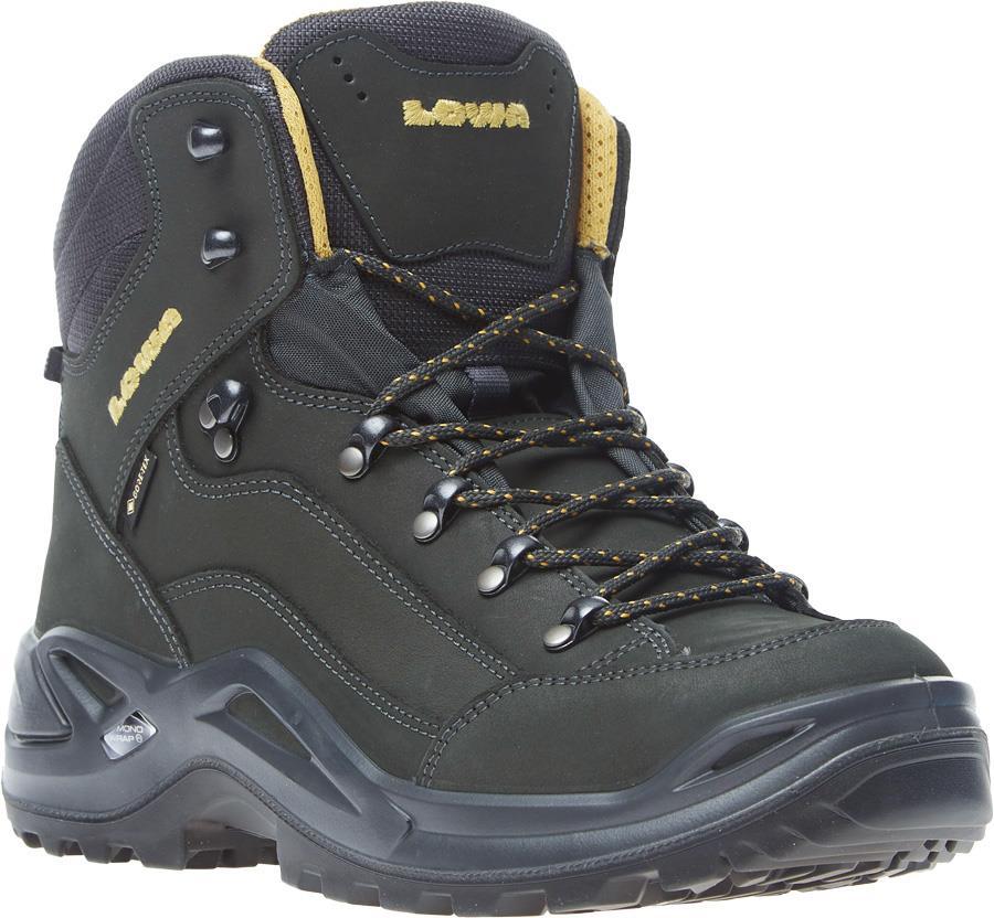 Lowa Renegade GTX Mid Gore-Tex Hiking Boot UK 7.5 Anthracite/Mustard