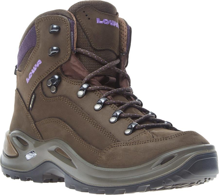 Lowa Renegade GTX Mid Women's Hiking Boots UK 8 Slate/Blackberry