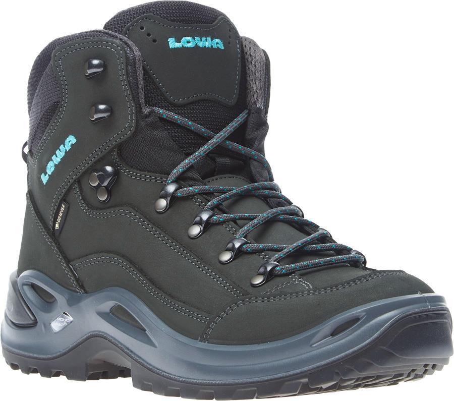 Lowa Renegade GTX Mid Women's Hiking Boots UK 4 Asphalt/Turquoise