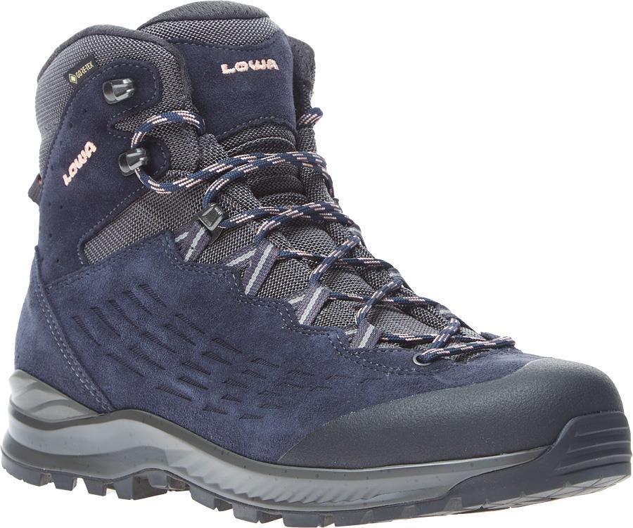 Lowa Explorer Mid Women's Gore-Tex Hiking Boots, UK 6.5 Navy/Rose