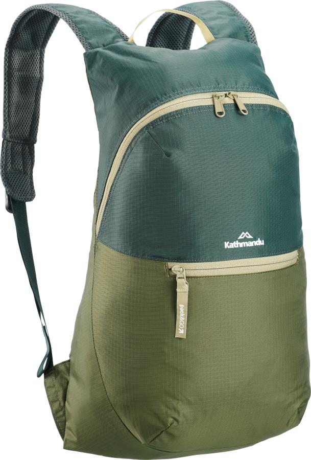 Kathmandu Pocket Pack V4 Packable Daypack Backpack, 15L Dark Spruce