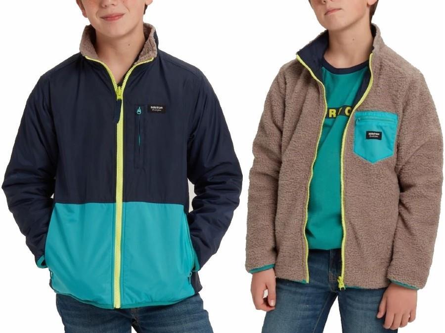 Burton Boys Snooktwo Reversible Fleece Jacket, 4t Dress Blue/Sterling