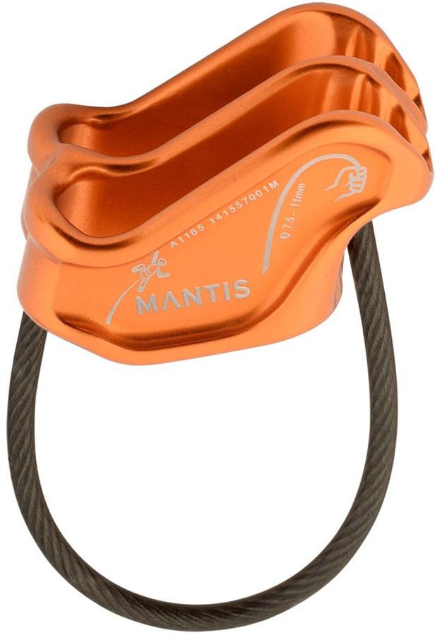 DMM Mantis Rock Climbing Belay Device, Orange