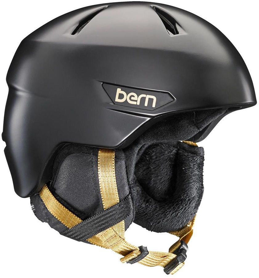 Bern Womens Bristow Women's Ski/Snowboard Helmet, S Satin Black