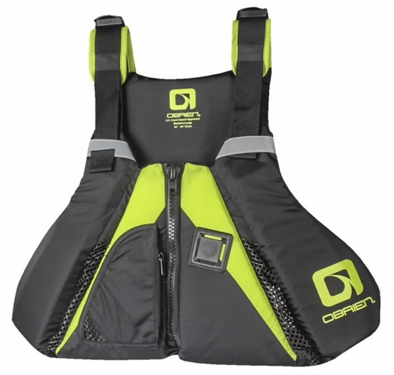 O'Brien Arsenal SUP Flotation Stand Up Paddle Board Vest, M-L Blk Grn