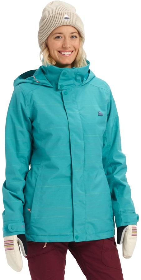 Burton Jet Set Women's Snowboard/Ski Jacket, S Green-Blue