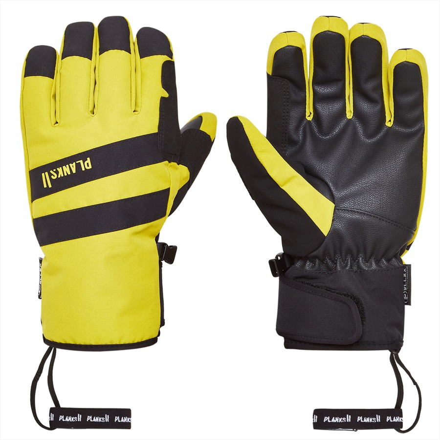 Planks Peacemaker Insulated Ski/Snowboard Gloves, XS Mellow Yellow