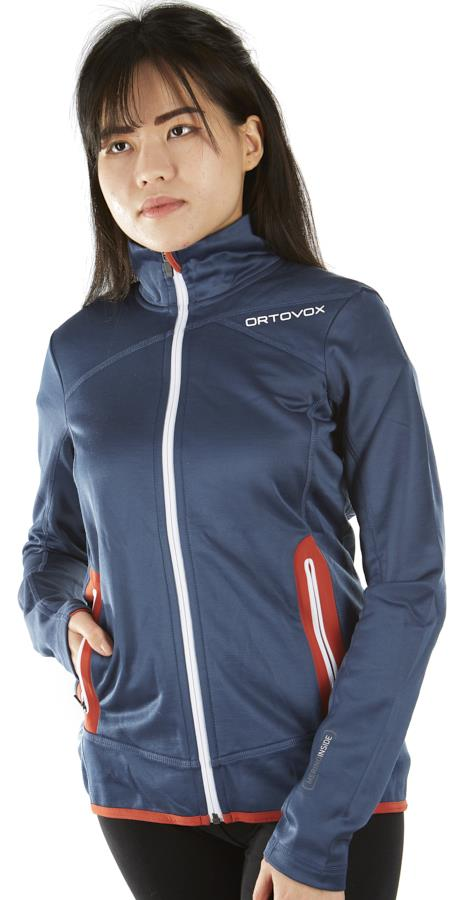 Ortovox Merino Fleece Women's Jacket - UK 14, Night Blue