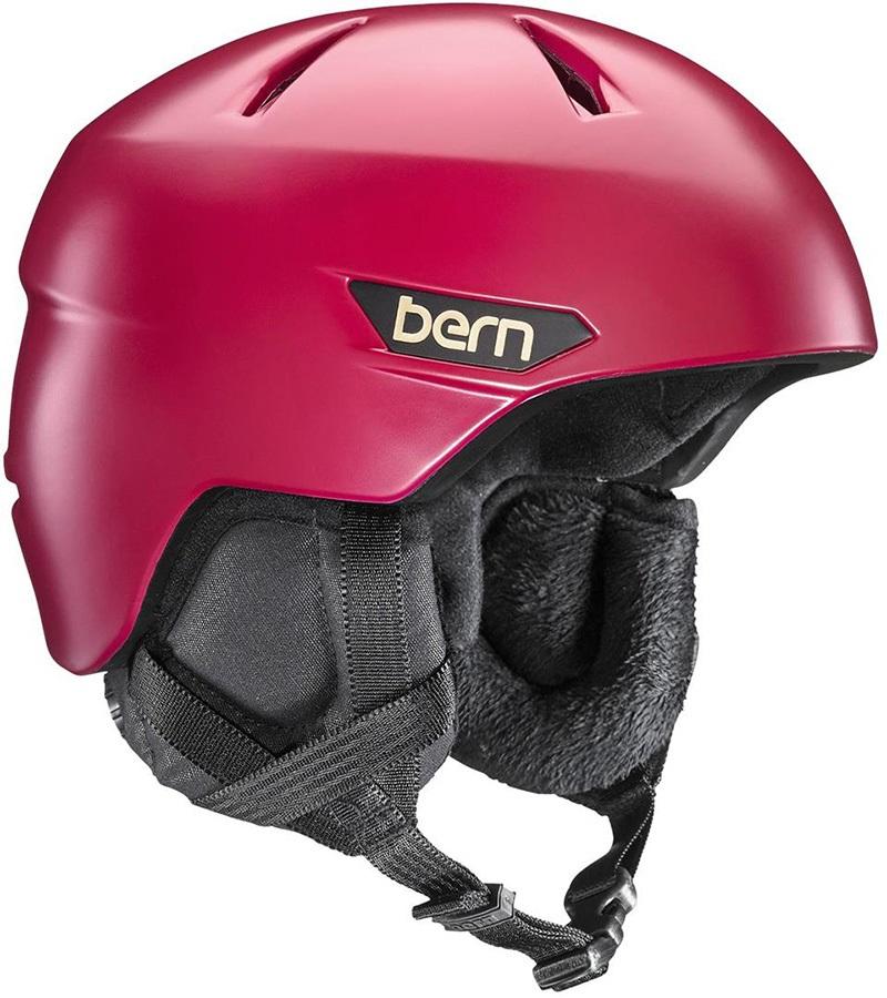 Bern Bristow Women's Ski/Snowboard Helmet, S Satin Cranberry