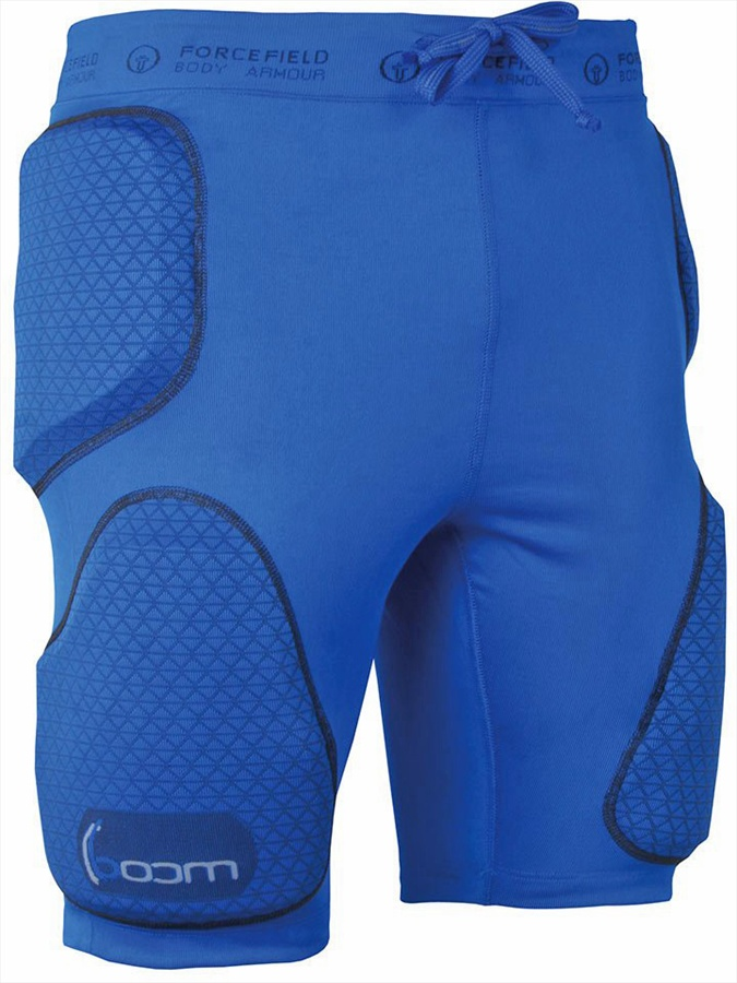 Forcefield Boom Body Armour Impact Shorts XL Bright Blue
