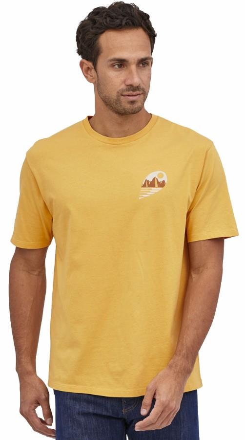 Patagonia Tube View Organic T-Shirt, XL Mountain Yellow