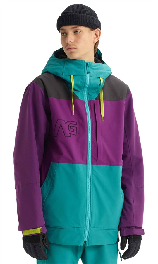 Analog Greed Snowboard/Ski Jacket, XXS Green-Blue Slate