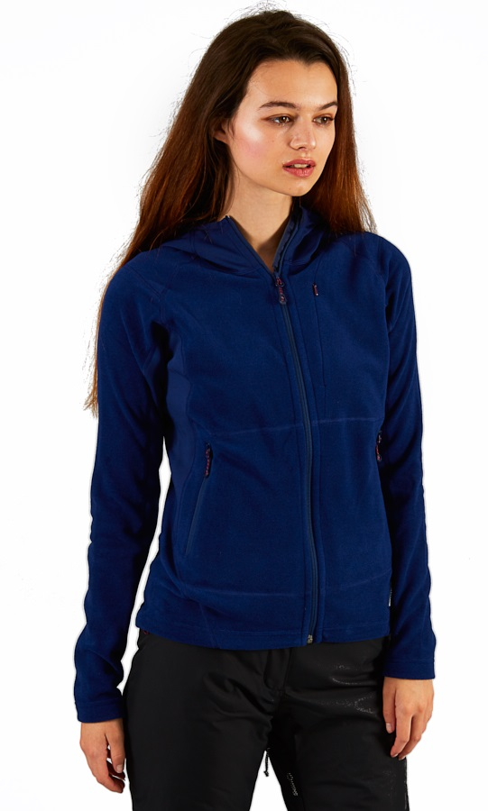Montane Fury Full-Zip Quick Dry Women's Fleece Hoodie, L Blue