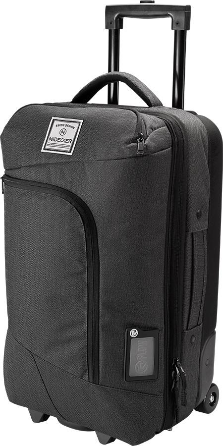 Nidecker Weekender Double Decker Wheelie Luggage, 45L Black