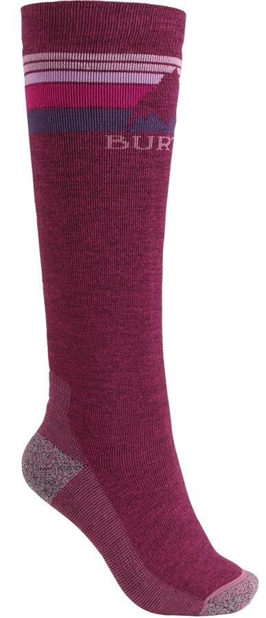 Burton Emblem Midweight Women's Ski/Snowboard Socks, M/L Sangria